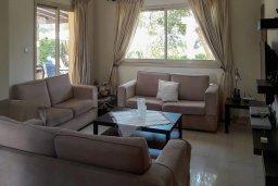 Гостиная. Кипр, Си Кейвз : Уютная вилла с бассейном и двориком с барбекю, 4 спальни, 4 ванные комнаты, парковка, Wi-Fi
