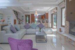 Гостиная. Кипр, Нео Хорио : Роскошная вилла с бассейном и двориком с барбекю, 4 спальни, 3 ванные комнаты, парковка, Wi-Fi