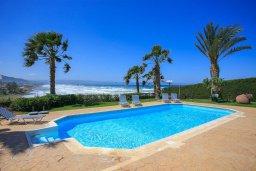 Бассейн. Кипр, Помос : Прекрасная вилла в 30 метрах от пляжа с бассейном и шикарным видом на море, 3 спальни, 3 ванные комнаты, барбекю, парковка, Wi-Fi