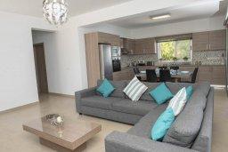 Гостиная. Кипр, Помос : Современная вилла с бассейном и видом на море, 3 спальни, 2 ванные комнаты, зеленая лужайка, барбекю, парковка, Wi-Fi