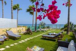 Территория. Кипр, Менеу : Очаровательная вилла с невероятным видом на море, с 3-мя спальнями, 3-мя ванными комнатами, большой зелёной лужайкой, патио, барбекю, расположена в тихом месте у пляжа Kiti Beach