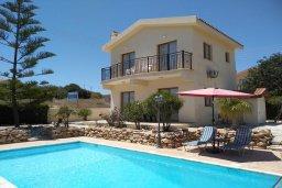 Фасад дома. Кипр, Писсури : Прекрасная вилла с бассейном и двориком с барбекю, 2 спальни, 2 ванные комнаты, парковка, Wi-Fi
