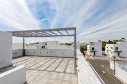 Терраса. Кипр, Нисси Бич : Современная очаровательная вилла с 3-мя спальнями, бассейном, солнечной террасой с патио, барбекю и садом на крыше