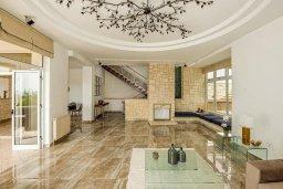 Гостиная. Кипр, Пейя : Роскошная вилла с бассейном и зеленым двориком с барбекю, 6 спален, 6 ванных комнат, парковка, Wi-Fi
