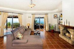 Гостиная. Кипр, Месоги : Роскошная вилла с бассейном, джакузи и двориком с барбекю, 4 спальни, 3 ванные комнаты, парковка, Wi-Fi