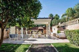Территория. Кипр, Айос Тихонас Лимассол : Роскошная вилла с бассейном и зеленым двориком с барбекю, 4 спальни, 2 ванные комнаты, парковка, Wi-Fi
