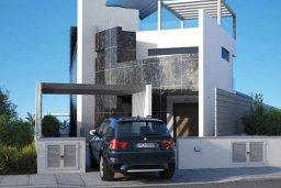 Фасад дома. Кипр, Аммос - Лимнария Бич : Современная вилла возле пляжа с бассейном и видом на море, 5 спален, 6 ванных комнат, парковка, Wi-Fi