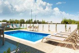 Бассейн. Кипр, Каппарис : Современная вилла с видом на Средиземное море, с 3-мя спальнями, 2-мя ванными комнатами, бассейном, тенистой террасой с патио, lounge-зоной, барбекю, расположена в тихом районе Kapparis