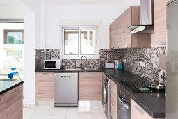 Кухня. Кипр, Центр Айя Напы : Роскошная вилла с бассейном, патио и барбекю, 3 спальни, 2 ванные комнаты, парковка, Wi-Fi