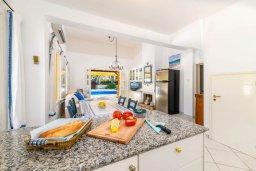 Кухня. Кипр, Санрайз Протарас : Великолепная вилла с 3-мя спальнями, 2-мя ванными комнатами, большим бассейном, в окружении зелёного сада, с тенистой террасой с патио и барбекю, расположена на холме Profitis Elias Hill