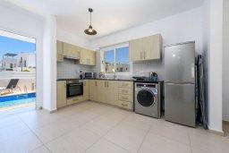 Кухня. Кипр, Нисси Бич : Современная вилла с 3-мя спальнями, бассейном, солнечной террасой с патио, барбекю и садом на крыше