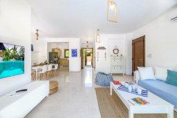 Гостиная. Кипр, Коннос Бэй : Потрясающая вилла с видом на Средиземное море, с 3-мя спальнями, 2-мя ванными комнатами, бассейном, тенистой террасой с патио, каменным барбекю и садом на крыше, расположена недалеко от пляжа Konnos Beach