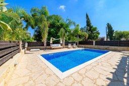 Бассейн. Кипр, Коннос Бэй : Потрясающая вилла с видом на Средиземное море, с 3-мя спальнями, 2-мя ванными комнатами, бассейном, тенистой террасой с патио, каменным барбекю и садом на крыше, расположена недалеко от пляжа Konnos Beach