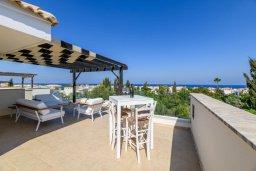 Патио. Кипр, Коннос Бэй : Потрясающая вилла с видом на Средиземное море, с 3-мя спальнями, 2-мя ванными комнатами, бассейном, тенистой террасой с патио, каменным барбекю и садом на крыше, расположена недалеко от пляжа Konnos Beach