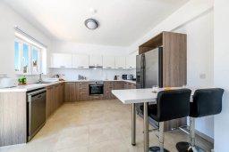 Кухня. Кипр, Центр Айя Напы : Прекрасная вилла с 4-мя спальнями, 4-мя ванными комнатами, с бассейном, солнечной террасой с патио и барбекю, расположена недалеко от центра курорта Ayia Napa