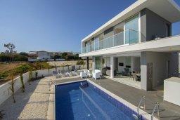 Фасад дома. Кипр, Санрайз Протарас : Современная вилла с 3-мя спальнями, 3-мя ванными комнатами, с бассейном,и приватным двориком с тенистой террасой с патио и барбекю, расположена недалеко от пляжа Sunrise Beach