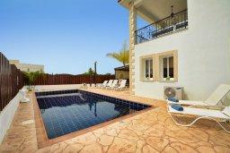 Фасад дома. Кипр, Нисси Бич : Великолепная вилла с бассейном и двориком с барбекю, 4 спальни, 3 ванные комнаты, парковка, Wi-Fi