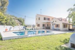 Территория. Кипр, Коннос Бэй : Превосходная вилла с видом на море, с 6-ю спальнями, 2-мя гостиными, с бассейном, тенистой террасой с патио и барбекю, расположена на возвышенности на окраине Протараса