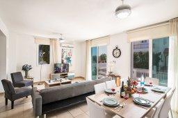 Гостиная. Кипр, Пернера : Превосходная вилла с бассейном и приватным двориком с барбекю, 3 спальни, 2 ванные комнаты, парковка, Wi-Fi