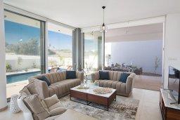 Гостиная. Кипр, Санрайз Протарас : Современная вилла с 3-мя спальнями, 3-мя ванными комнатами, с бассейном,и приватным двориком с тенистой террасой с патио и барбекю, расположена недалеко от пляжа Sunrise Beach