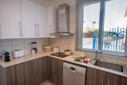 Кухня. Кипр, Ионион - Айя Текла : Роскошная пляжная вилла с зеленой лужайкой, 3 спальни, 3 ванные комнаты, барбекю, парковка, Wi-Fi