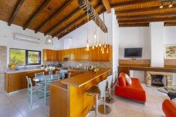 Кухня. Кипр, Аммос - Лимнария Бич : Потрясающая вилла с великолепным видом на море, с 3-мя спальнями, бассейном, уютным двориком и каменной печью, расположена около пляжа Ammos Tou Kampouri Beach