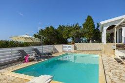 Бассейн. Кипр, Аммос - Лимнария Бич : Потрясающая вилла с великолепным видом на море, с 3-мя спальнями, бассейном, уютным двориком и каменной печью, расположена около пляжа Ammos Tou Kampouri Beach