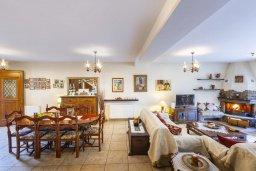 Гостиная. Кипр, Троодос : Очаровательный коттедж с 4-мя спальнями, просторной террасой с потрясающим видом на горы, расположен в деревне Amiantos на вершине холма над берегом реки Kouris