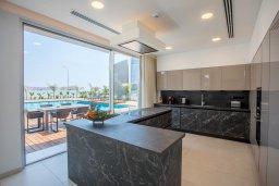 Кухня. Кипр, Аммос - Лимнария Бич : Современная вилла с видом на Средиземное море, с 3-мя спальнями, бассейном с джакузи, солнечной террасой на крыше, расположена в 150м от набережной и в 450м от пляжа Limnara Beach