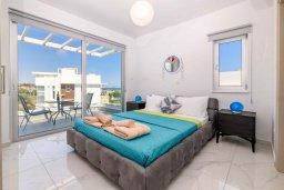Спальня 3. Кипр, Каво Марис Протарас : Великолепная современная вилла с видом на Средиземное море, с 3-мя спальнями, с бассейном, тенистой террасой с патио и барбекю, расположена в популярном районе Green Bay