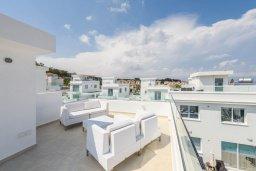 Терраса. Кипр, Каво Марис Протарас : Современная вилла с террасой на крыше с видом на Средиземное море, с 4-мя спальнями, с бассейном, патио и барбекю, расположена недалеко от пляжей  Konnos Bay и Fig Tree Bay