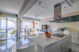 Кухня. Кипр, Гермасойя Лимассол : Потрясающий апартамент с видом на Средиземное море, с 3-мя спальнями, расположен в комплексе с общим бассейном и зелёным садом