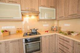 Кухня. Кипр, Ионион - Айя Текла : Очаровательная вилла с 3-мя спальнями, с бассейном, тенистой террасой с патио и барбекю, в окружении зелёного сада, расположена в 100 метрах от пляжа