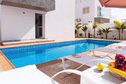 Бассейн. Кипр, Нисси Бич : Прекрасная вилла с 3-мя спальнями, с бассейном, солнечной террасой с патио и барбекю, садом на крыше с панорамным видом, расположена в 500 метрах от пляжа Sandy Bay Beach
