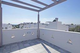 Терраса. Кипр, Нисси Бич : Великолепная вилла с 3-мя спальнями, с бассейном, солнечной террасой с патио и каменным барбекю, садом на крыше с панорамным видом, расположена в 500 метрах от пляжа Sandy Bay Beach