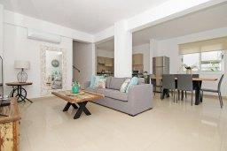 Гостиная. Кипр, Нисси Бич : Великолепная вилла с 3-мя спальнями, с бассейном, солнечной террасой с патио и каменным барбекю, садом на крыше с панорамным видом, расположена в 500 метрах от пляжа Sandy Bay Beach