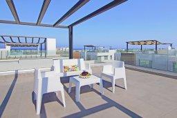 Терраса. Кипр, Пернера Тринити : Удивительная вилла с террасой на крыше с видом на Средиземное море, с 3-мя спальнями, бассейном, патио и барбекю, расположена недалеко от пляжей Vrysoudia Beach и Trinity Beach