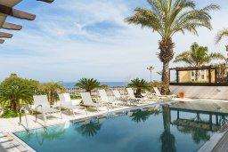 Бассейн. Кипр, Каппарис : Несравненная вилла с шикарным видом на Средиземное море, с 4-мя спальнями, с бассейном, тенистой террасой с патио, беседкой, настольным теннисом и барбекю, расположена около пляжа Malama beach