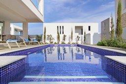 Бассейн. Кипр, Пернера Тринити : Шикарная вилла с террасой на крыше с видом на Средиземное море, с 3-мя спальнями, бассейном, патио и барбекю, расположена недалеко от пляжей Vrysoudia Beach и Trinity Beach