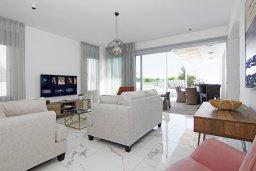 Гостиная. Кипр, Центр Айя Напы : Роскошная вилла с панорамным видом на Средиземное море, с 4-мя спальнями, с бассейном, солнечной террасой с патио и барбекю, расположена в центре Ayia Napa