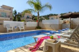 Бассейн. Кипр, Каво Марис Протарас : Замечательная вилла с террасой на крыше с видом на Средиземное море, с 4-мя спальнями, с бассейном, патио и барбекю, расположена в 400 метрах от пляжа Green Bay Beach