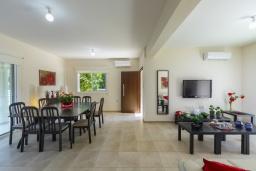 Гостиная. Кипр, Каво Марис Протарас : Замечательная вилла с террасой на крыше с видом на Средиземное море, с 4-мя спальнями, с бассейном, патио и барбекю, расположена в 400 метрах от пляжа Green Bay Beach