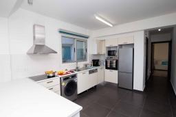 Кухня. Кипр, Пернера Тринити : Пляжный апартамент с потрясающим панорамным видом на Средиземное море, с 3-мя спальнями, просторной зелёной территорией с патио и барбекю, расположен около песчаного пляжа Trinity Beach