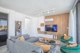 Гостиная. Кипр, Санрайз Протарас : Современная вилла с 3-мя спальнями, с бассейном, солнечной террасой с патио, lounge-зоной и барбекю, расположена недалеко от пляжа Sunrise Beach