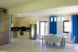 Кухня. Кипр, Коннос Бэй : Роскошная вилла с 4-мя спальнями, с бассейном, джакузи, солнечной террасой с lounge-зоной, дровяной кипрской печью, в окружении пышного зелёного сада, с тренажерным залом и сауной, расположена в 500 метрах от пляжа Konnos Bay Beach