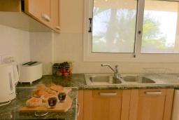 Кухня. Кипр, Сиренс Бич - Айя Текла : Потрясающая вилла с видом на море, с 3-мя спальнями, с бассейном, тенистой террасой с патио и каменным барбекю, расположена в тихом живописном месте в Ayia Thekla