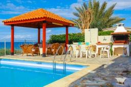 Беседка. Кипр, Аргака : Великолепная вилла с потрясающим видом на море, с 3-мя спальнями, с бассейном, беседкой и каменным барбекю, расположена в 300 метрах от пляжа Argaka Beach
