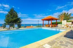 Бассейн. Кипр, Аргака : Великолепная вилла с потрясающим видом на море, с 3-мя спальнями, с бассейном, беседкой и каменным барбекю, расположена в 300 метрах от пляжа Argaka Beach