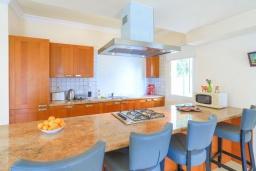 Кухня. Кипр, Каппарис : Очаровательная вилла с 3-мя спальнями, с бассейном, солнечной террасой с патио и барбекю, расположена в 300 метрах от пляжа Malama Beach