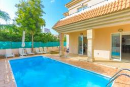 Бассейн. Кипр, Каппарис : Очаровательная вилла с 3-мя спальнями, с бассейном, солнечной террасой с патио и барбекю, расположена в 300 метрах от пляжа Malama Beach
